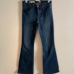 Pilcro dark wash jeans with flared leg
